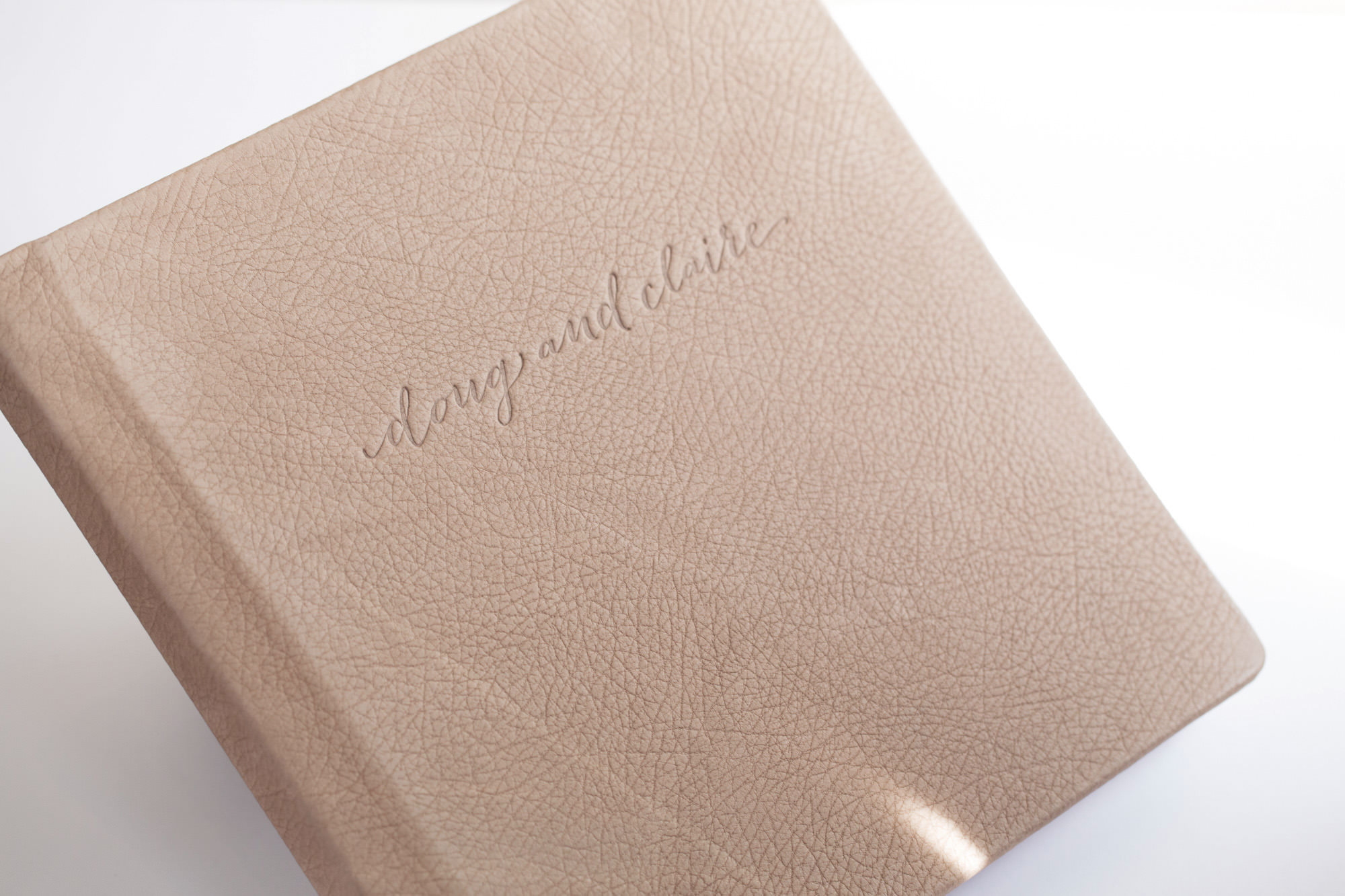 Leather Flushmount Wedding Album
