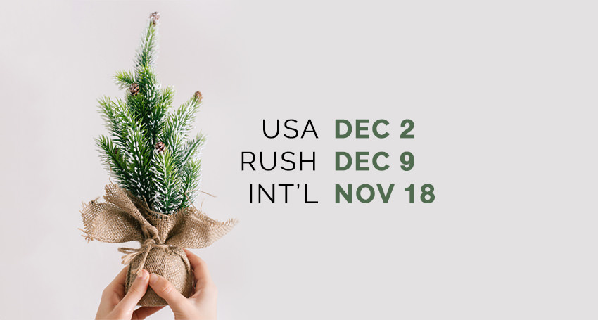 RedTree Albums 2015 Holiday Deadlines